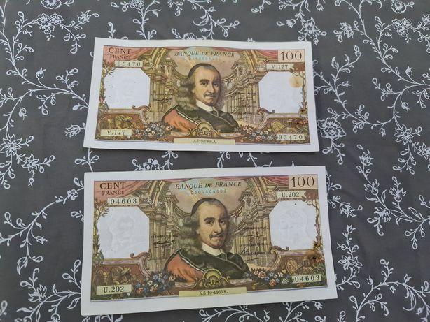 Bancnote 100 francs 1966 / 2 buc