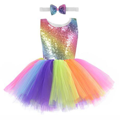 Платье и крылья единорог