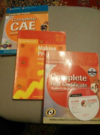 English, учебници по английски език, Cambridge, учебник+тетрадка=15 лв