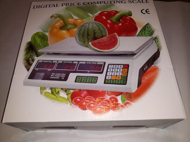Cantar electronic cu acumulator, uz casnic, afisaj lcd, max 40 kg