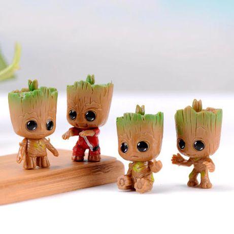 Set 4 figurine Gardienii Galaxiei Marvel Baby Groots