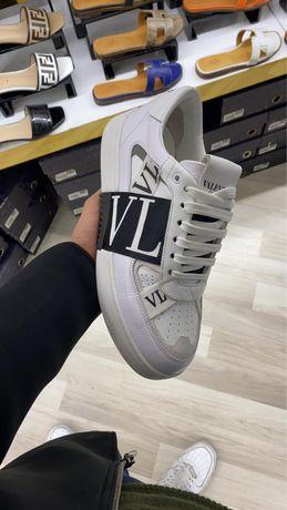 Adidasi Valentino alb/negru piele naturala Premium
