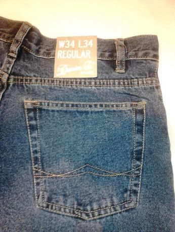 Pantaloni Blugi Regular DENIM Co Clasic, W 34 L 34,100% Cotton,IRELAND