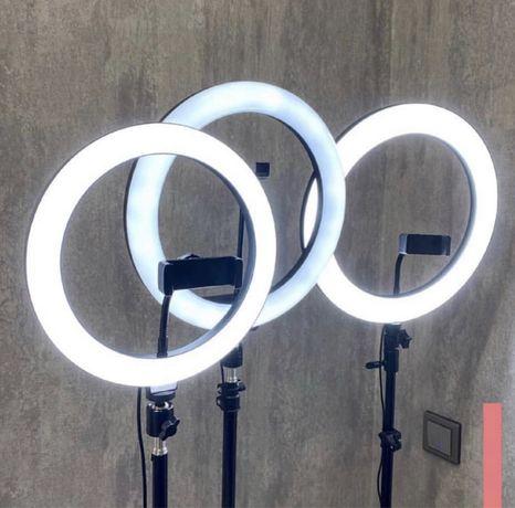 Кольцевая лампа 26см с штативом 2,1м + Шарнир в Подарок