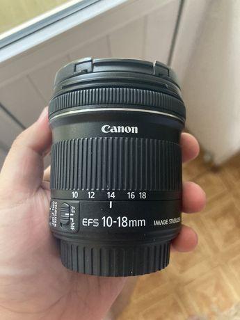 Широкоугольный объектив Canon 10-18 mm