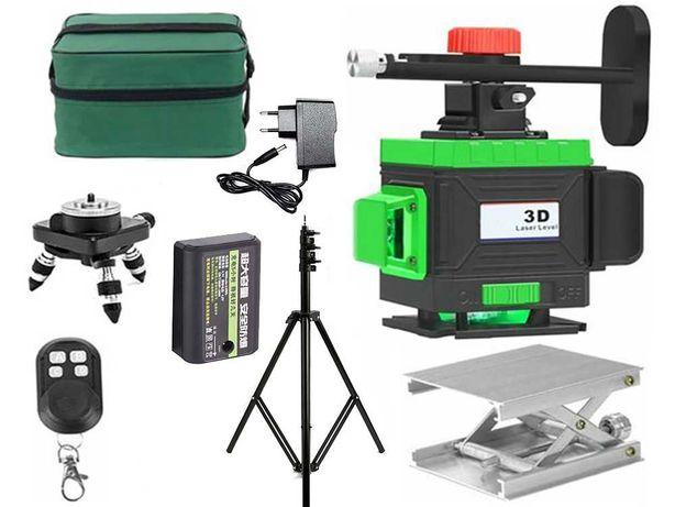 Лазерный уровень, Профессиональный нивелир. Зеленый луч 3D, 4D, 3Д, 4Д