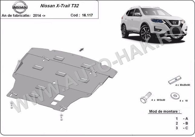 Scut motor metalic Nissan X-Trail T32 2014-prezent