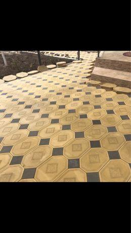 Брусчатки, плитки тротуарные, балясины, колонны, декоративные камни 3D