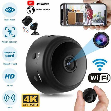 ПРОМО! Wi-Fi Мини Скрита Панорамна Смарт Камера Нощно Виждане
