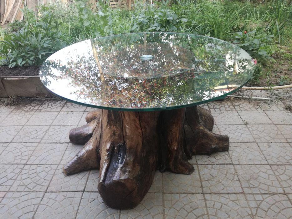 Masa din trunchi de nuc Vama - imagine 1