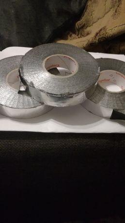 Bandă izolatore 30m cu protectie metalică argintie