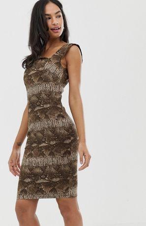 Новое платье с Asos City Goddess р 12 46 М сарафан летнее леопард