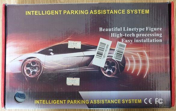 Парктроник за автомобил с 4 сензора, по-красива LED индикация