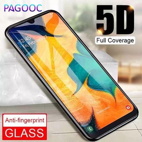 5D Стъклен протектор за Samsung Galaxy A10 A20e A40 A50 A70 A80 M20