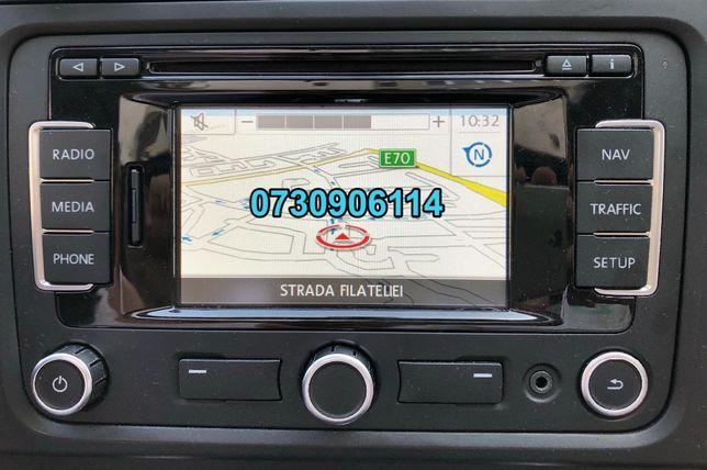 Harta ROMANIA Navigatie RNS 310 Amundsen Skoda Octavia Golf 6 Passat