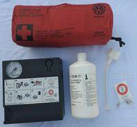Kit pana Compresor auto umflat roti+solutie originale skoda Vw audi