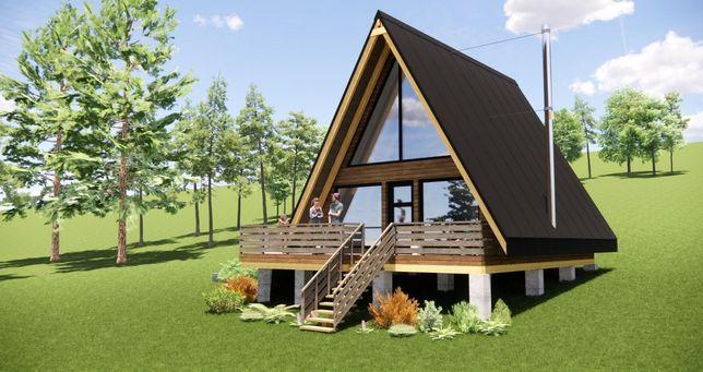 Cabane din lemn tip A 4500euro