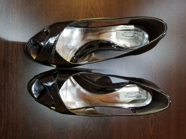 Pantofi - decupat de damă din piele naturală, mărimea 36