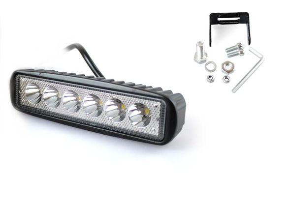 Халоген LED работна лампа 18W ( 3W x 6pcs ) 15,5 см. 9V-32V Джип АТВ