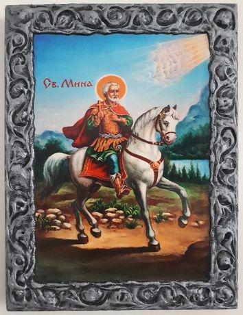 Икона на Свети Мина ikona Sveti Mina, различни изображения