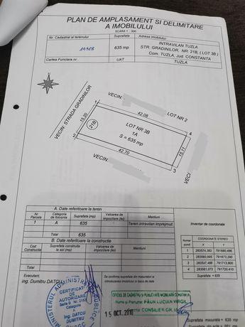 Teren intravilan Tuzla... 635 mp... 28€/m 2