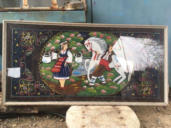 Старинна картина върху плат