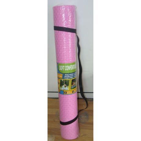 Постелка за гимнастика, йога и упражнения 90 х 190 см и 7 мм дебелина