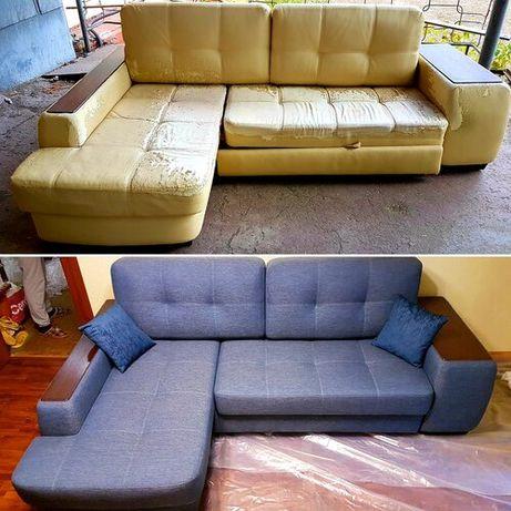 Перетяжка, реставрация и изготовление мягкой (дивана) и твердый мебели