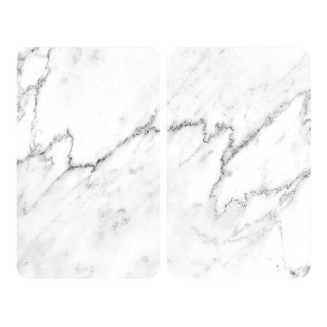 Set 2 protecții din sticlă pentru aragaz Wenko Marble, 52 x 30 cm