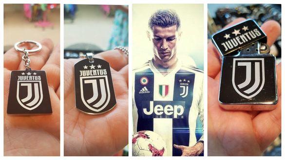 Juventus,гравиране на ключодържател,плочка или бензинова запалка+текст