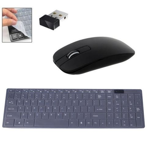 Комплект безжична клавиатура и мишка, Wireless keyboard, Силикон