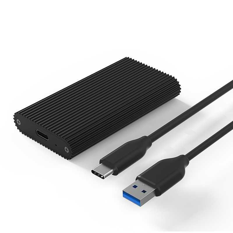Алуминиева външна кутия за mSATA SSD USB 3.1 Gen 2 Type C - BS-M3T