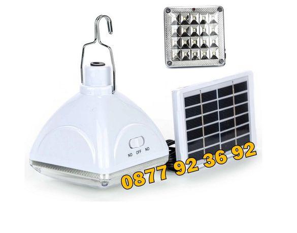 МОЩНА LED лампа със соларен панел: GD-6030, соларна лампа с панел