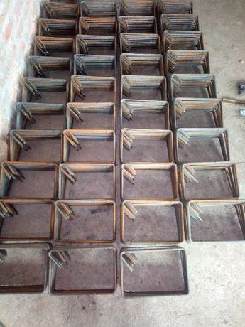 Etrieri 30 x 30 din fier beton de 8 mm striat pentru stalpi casa