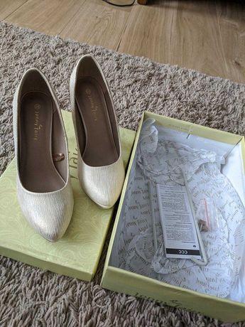 Pantofi Jenny Fairy nr 38 culoare bej auriu