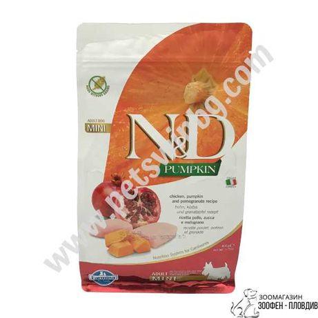 ND Mini Adult с Тиква, Пиле и Нар 0.8/2.5/7кг - Храна за Кучета