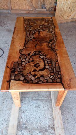 Холна маса материал череша, смола, корен от акация, и орех