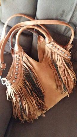 Дамска чанта от екокожа в охра