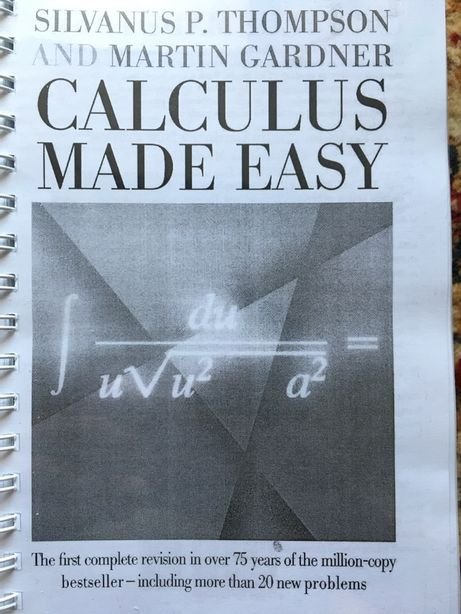 Книга на английском. Математика (Calculus made easy)