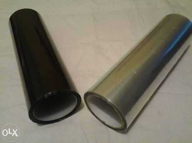 Folie faruri,triple transparenta 100% sau fumurie,latime 30cm val nou.