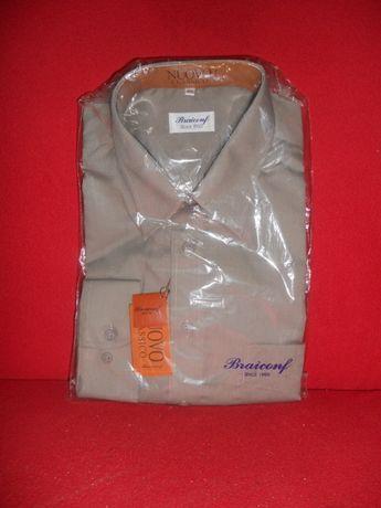 Cămașă marca Braiconf® nouă, sigilată, culoare kaki, cu mânecă lungă
