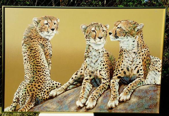 Cheetahs-Anderson,картина маслени бои 153 х 103 см.