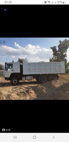 доставка песка кз и т.д  до 25 тонн