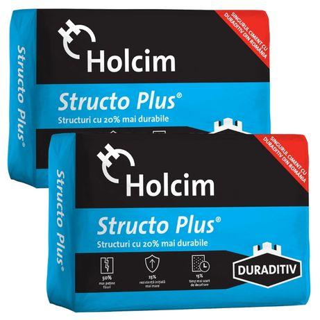 Ciment Holcim Portland Struco Plus si ciment Portland Heidelberg, 40kg