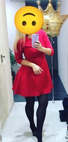 Платье женское красное