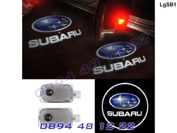 ЛЕД Светещо Лого Проектор Врата Автомобил Кола Проектори Subaru Субару