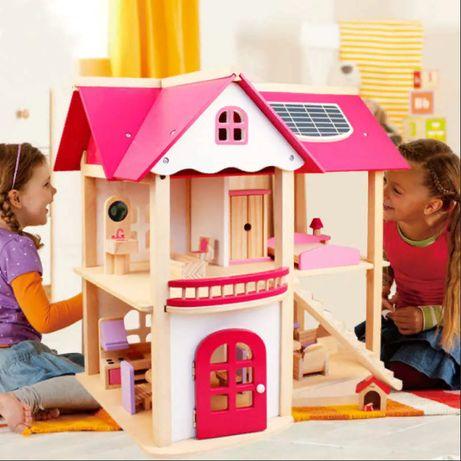 Кукольный домик 'Розовое волшебство', с мебелью. Подарок принцессе.