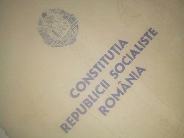 Constitutia republicii socialiste Romania/1980/colectionari/anticariat