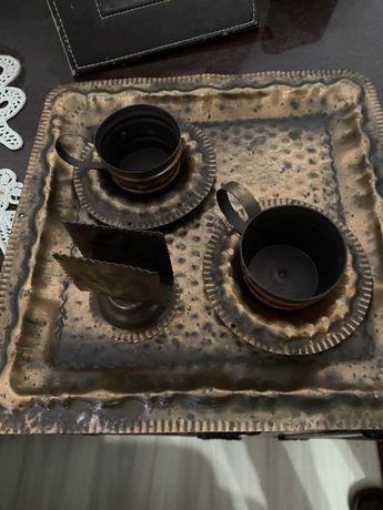 Tava + cescute obiect de colectie, vintage, antichitate