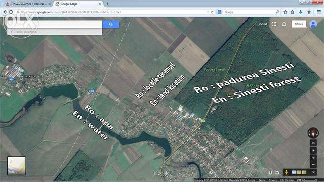 Vand / schimb / rate terenuri in Sinesti Ialomita